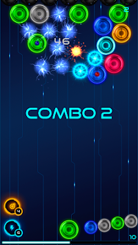 MB2: glowing neon bubbles apk screenshot