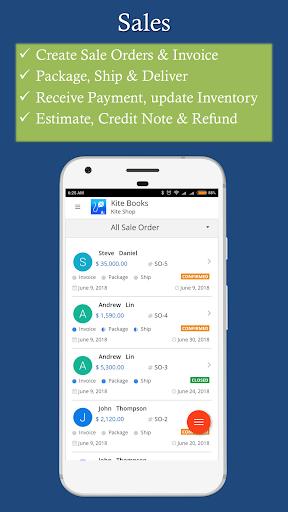 Free Invoice Inventory management app - Kite Books 3.0 screenshots 1