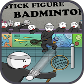 Stick figure badminton: Stickman 2 players y8