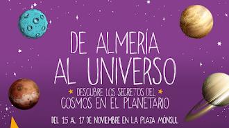 Cartel anunciador del planetario instaladao en el CC Torrecárdenas.