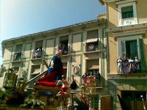 Photo: Viendo el encuentro y procesion viernes santo en Cehegin. Que solecito mas estupendo!