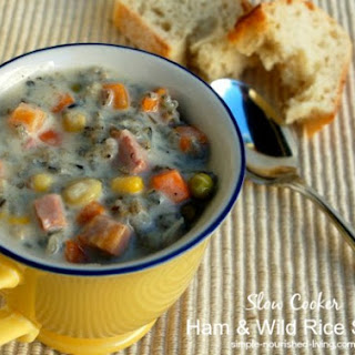 Slow Cooker Ham and Wild Rice Soup.