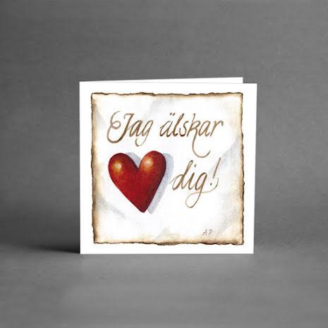 Små kort - Jag älskar dig
