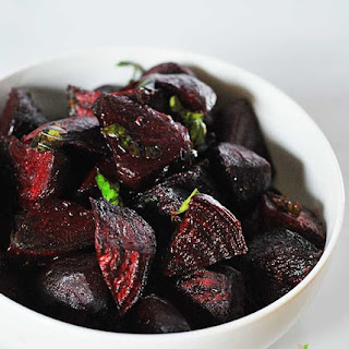 Roasted Beets with Basil