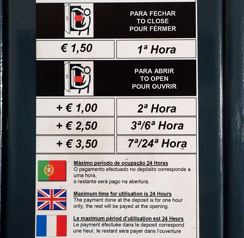 Porto São Bento Station - Locker price