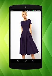 Midi design šaty - náhled