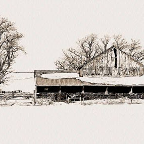 A farm in Beaver Township PA by Mike Hague - Artistic Objects Other Objects