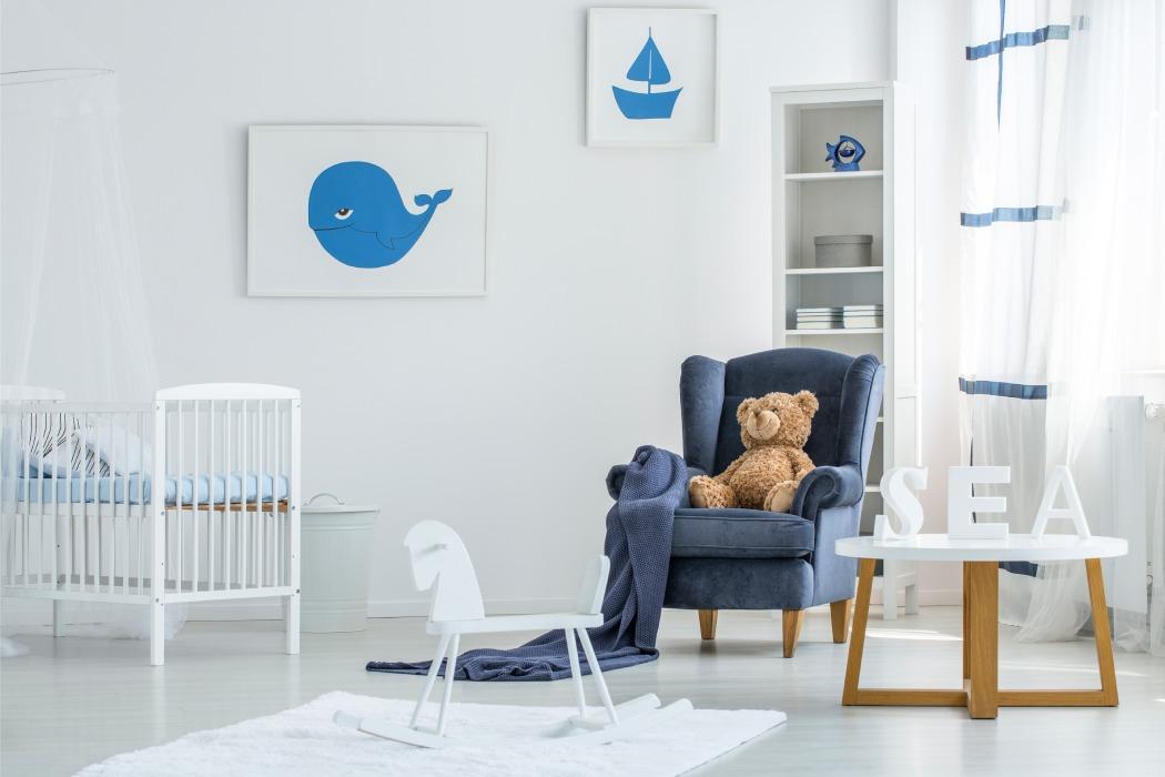 styl marynistyczny pokój dziecięcy