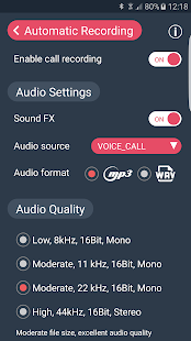 Call Recorder - Automatic Call Recorder - callX Screenshot