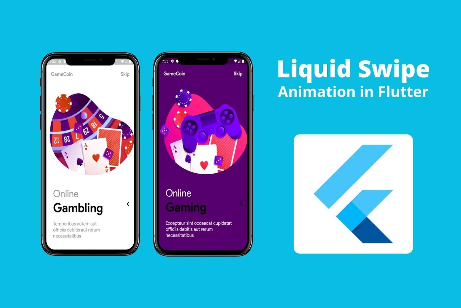 Liquid Swipe Animation Flutter UI Libraries