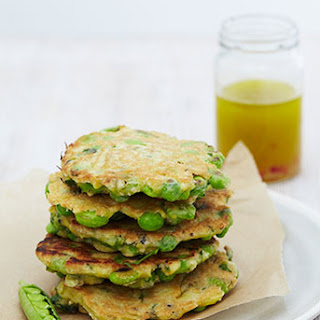 Zesty Pea And Parsley Fritters