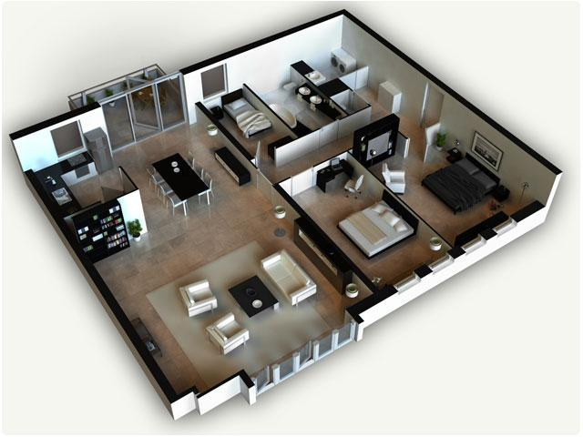 fine 3d house plans prissy design exquisite ideas d image gallery