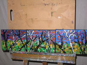 Photo: Sunrise at Falls Creek Triptych Oil 75cmx20cm $60