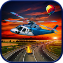 Real City Helicopter 3D Traffic Parking Simulator icon