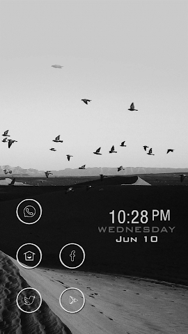 android Black Image about Birds Theme Screenshot 0