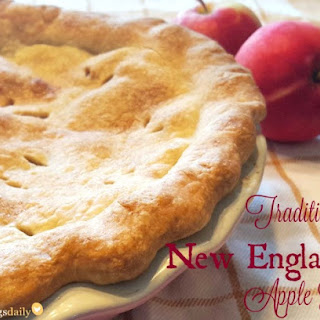 Traditional New England Apple Pie.
