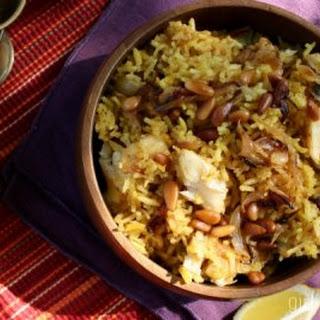 Sayadieh Bil Samek (Fish Pilaf w/ Caramelized Onions)