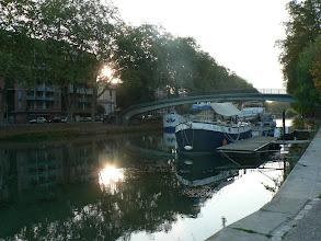 Photo: les premiers rayons de soleil sur le canal