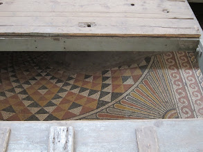 Photo: Original mosaic floors from Byzantine era