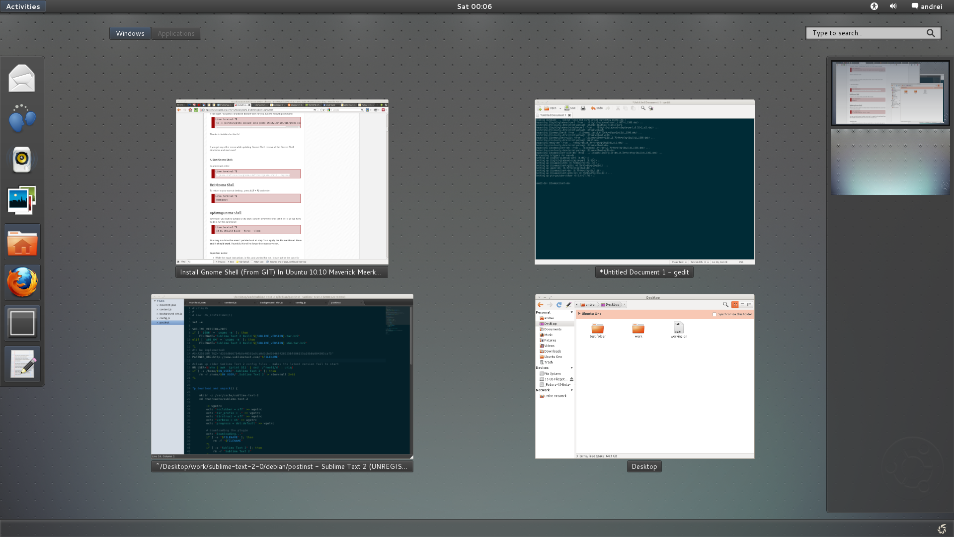 Install Gnome Shell (From GIT) In Ubuntu 11 04 / 10 10 ~ Web