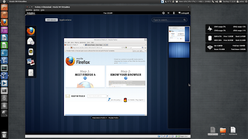 Fedora 15 GNOME Shell VirtualBox