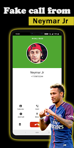 Fake call Neymar Jr 1.1 screenshots 2