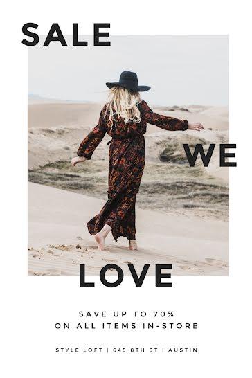 Sale We Love - Postcard template