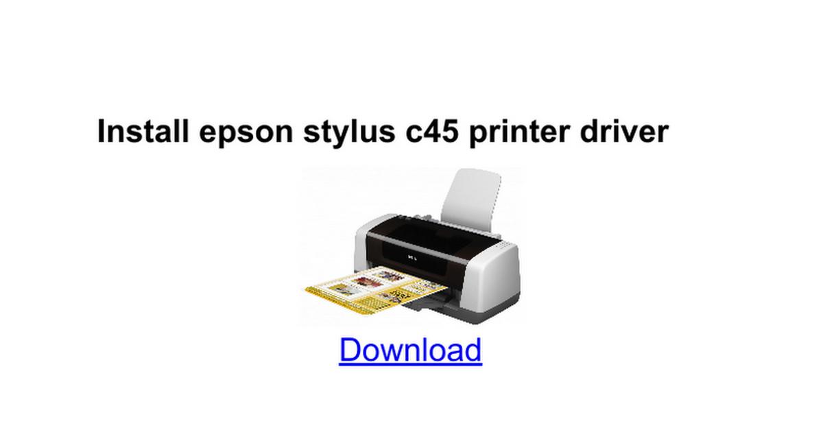 EPSON TÉLÉCHARGER DRIVER C45 IMPRIMANTE