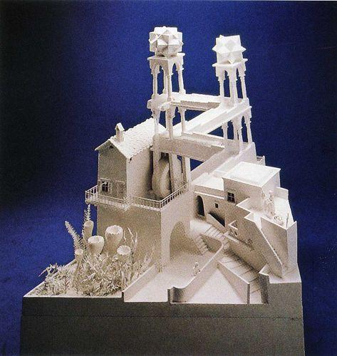 La cascata di Escher secondo Shigeo Fukuda