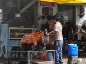 "Photo: ""pig town"". numerous street side restaurants selling pork el naturale."