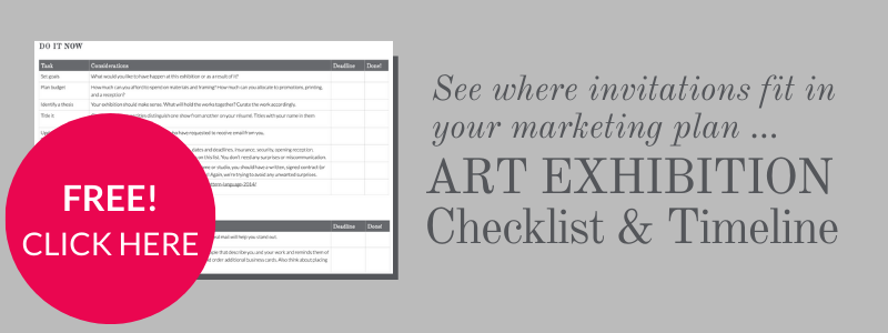 Exhibition invitations in your art marketing plan