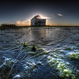 Spring Ice by Eric Demattos - Buildings & Architecture Decaying & Abandoned ( building, school, ice, eric demattos, frozen, spring, abandoned )