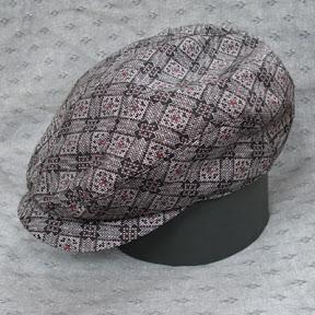 泥染大島紬 帽子(ハンチング型)