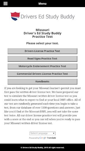 Missouri Driver License Test