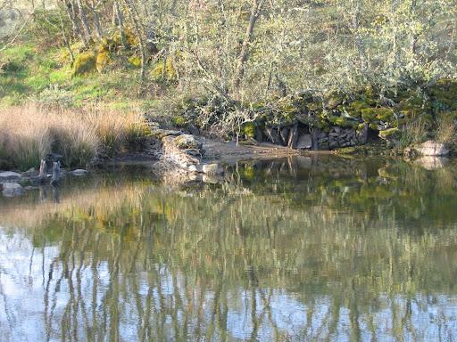 restos de vallas en la orilla