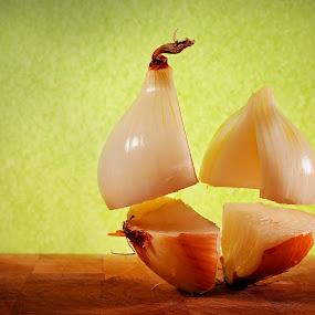 Exploding Onion by Ewan Arnolda - Digital Art Things ( creative, exploding, food, fun, onion )