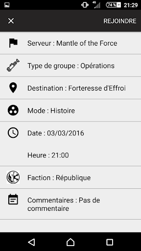 Group Finder for SWTOR app (apk) free download for Android/PC/Windows screenshot