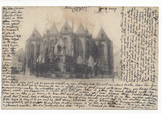 <p> <strong>L&eacute;on Coupey<br /> To Mme E. [Corinne] Coupey (London)</strong><br /> Ink on card<br /> 3 &frac12;&quot; x 5 &frac12;&quot;<br /> 1902<br /> Verso</p> <p> Collection Mark &amp; Carol Smith, Auckland, New Zealand &nbsp;</p>
