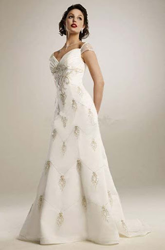 Ivory Top Wedding Gown