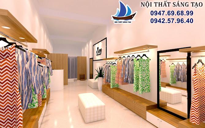 thiết kế cửa hàng thời trang Evy Đông Anh