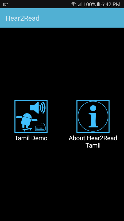 Hear2Read Tamil Text To Speech- screenshot