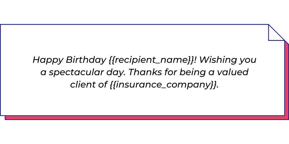 Use this insurance WhatsApp template to send birthday messages.