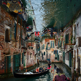 Venice by Juan Tomas Alvarez Minobis - City,  Street & Park  Street Scenes ( venice, art, monuments, city, cityscape, people, italy )