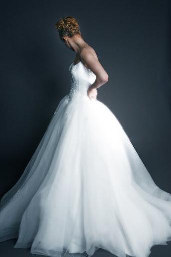 White Corset Bridal  Gown Design