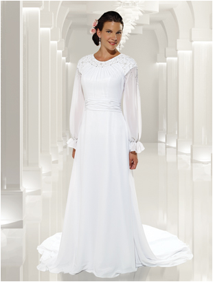 9112 ; Modest Bridal Gown