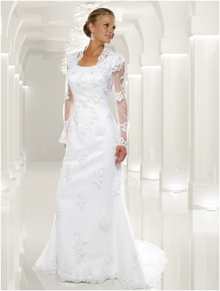 9104 Modest Formal Bridal Gown