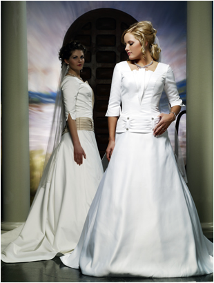 9004 Modest Bridal Wedding Gown