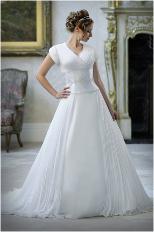 Beautifully 8914 Modest Wedding  Gown