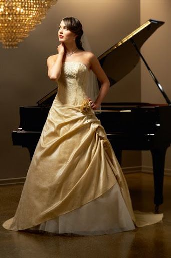 Allure Yellow Bridal Gown 2010
