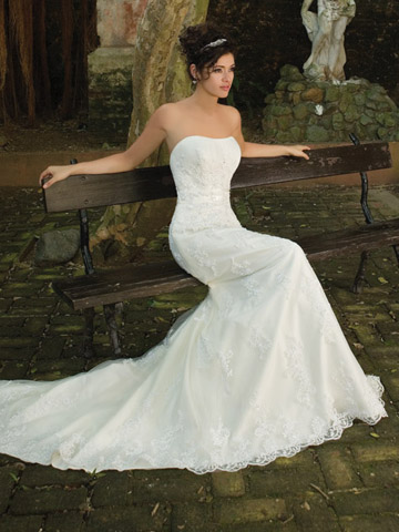 Sheath Bridal Dress